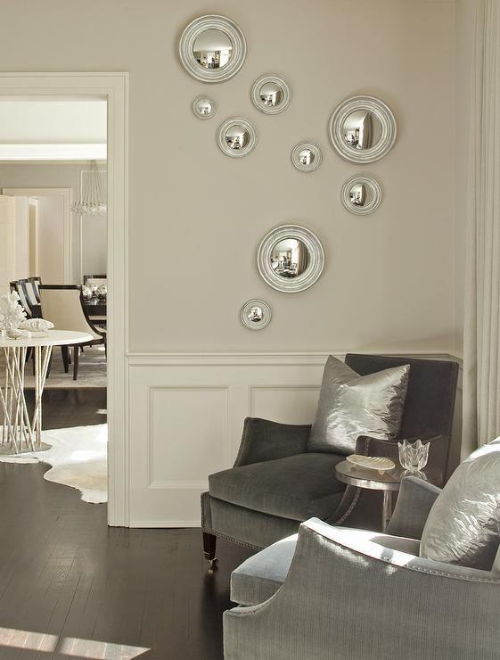 Room · Chic Living Room Corner Boasts Wainscoting ...
