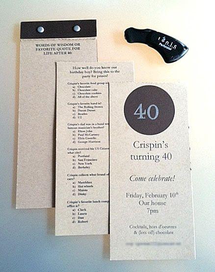 diy 40th birthday party invitation omg 40 s pinterest
