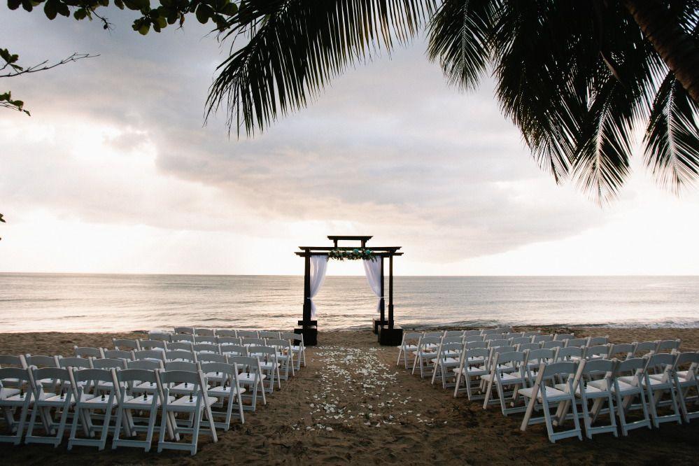 Beautiful sunset wedding Rincon Puerto Rico by Ocasiones Event