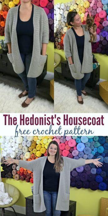 The Hedonist's Housecoat #crochetyarn