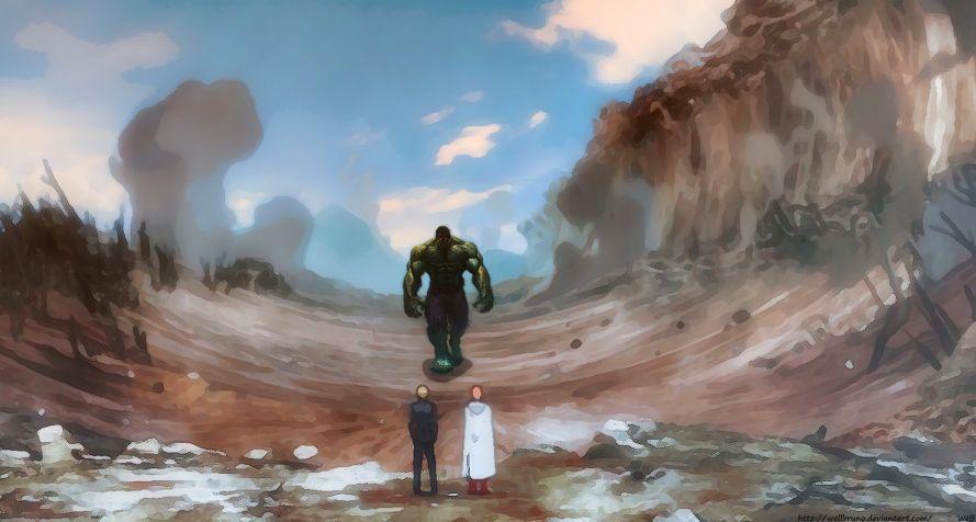 One Punch Man Saitama Vs Nyamuk - #Hulk #Fan #Art. (Crossover Hulk Vs One Punch Man) By ...