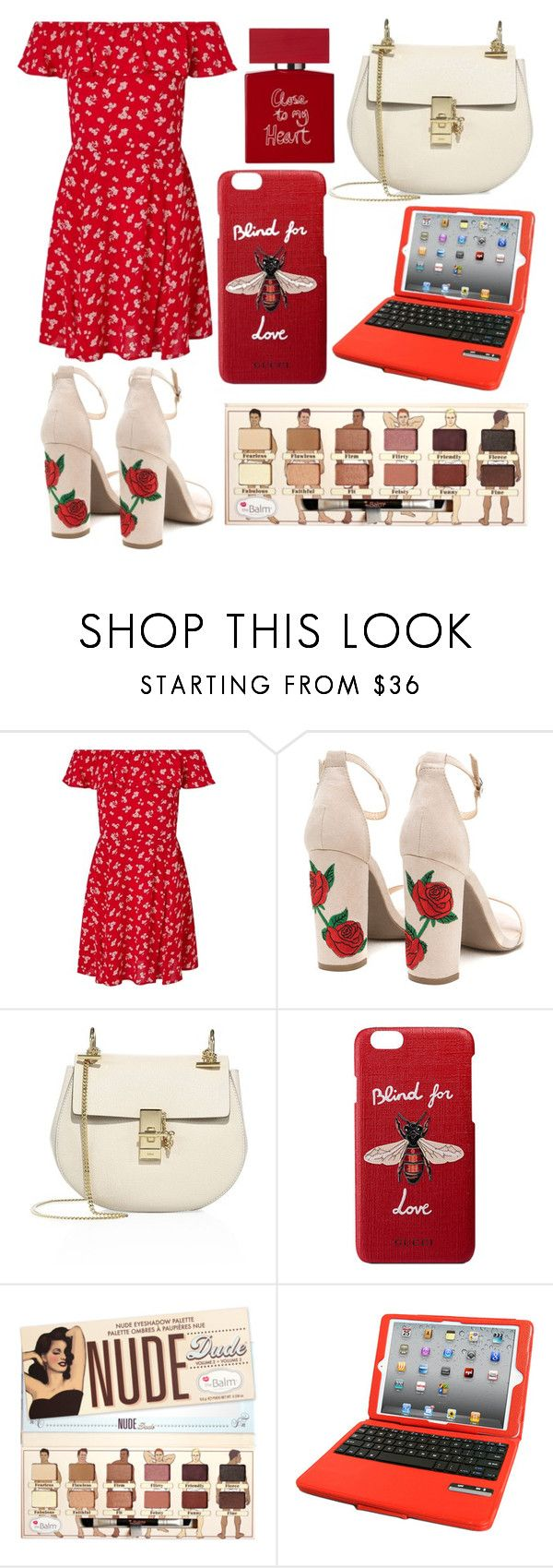 """""""Red Nose Day"""" by mexie ❤ liked on Polyvore featuring Miss Selfridge, Chloé, Gucci, Natico and Bella Freud"""