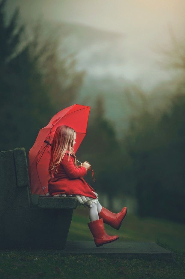 'Red Umbrella' by ashleycampbell_8229