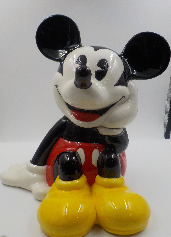 Disney Cookie Jar Etsy >> Vintage Large Mickey Mouse Cookie Jar Ceramic Disney