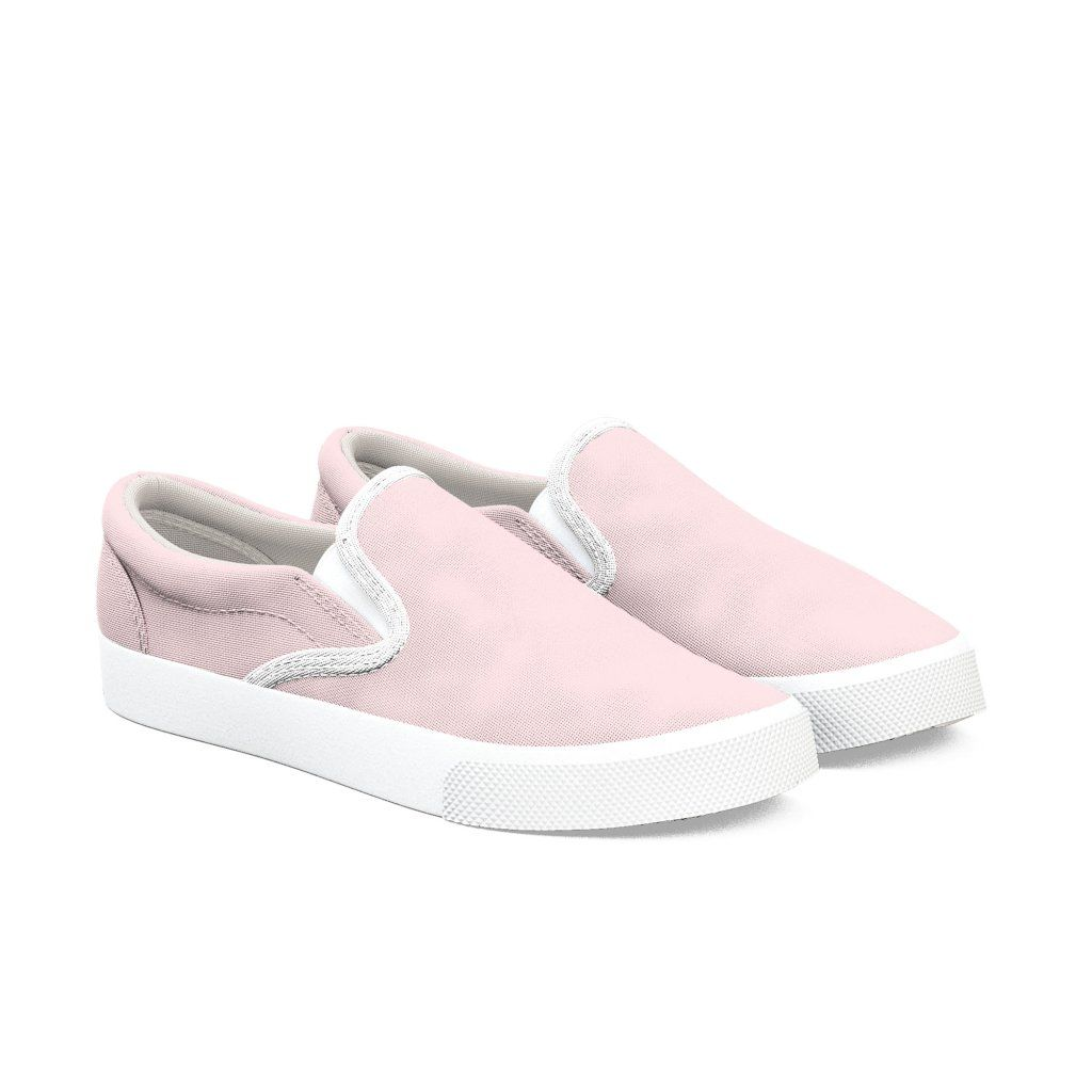 Light Pink Slip On Shoes, Baby Pink