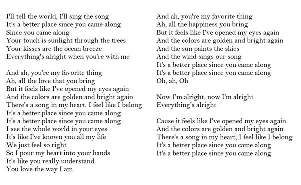 Lyrics Better Place Rachel Platten Romantic Song Lyrics Rachel