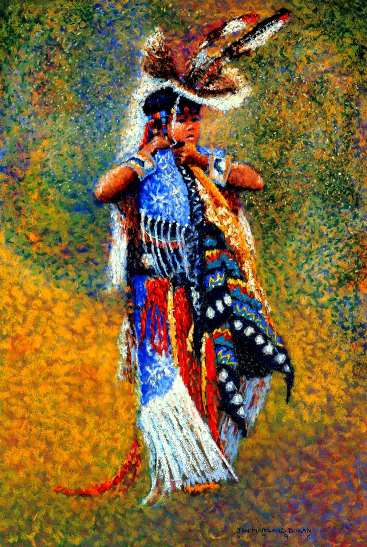 native american imagery and art Art Print, Boy Dancer