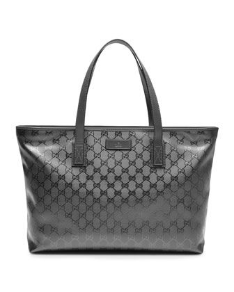 b0ffc945e GG Imprime Tote, Platinum Silver by Gucci at Neiman Marcus.   Beauty ...