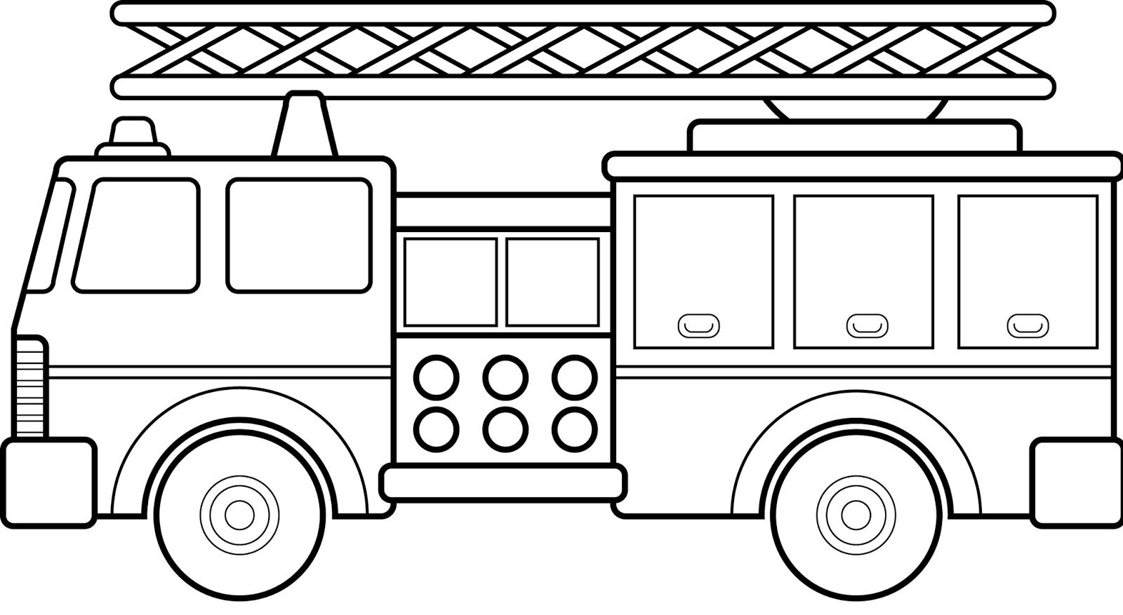 Vehicles Coloring Pages Caminhao De Bombeiros Bombeiro