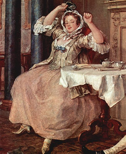 Tete A Tete 1743 William Hogarth Note The Details Of The Ladies