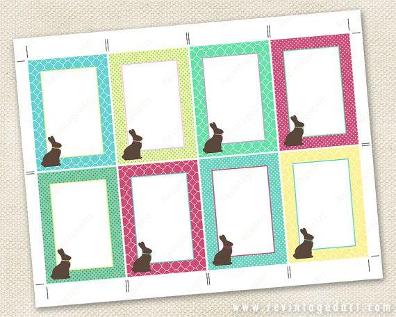 Editable bunny tags printable bunny gift tags chocolate bunny editable bunny tags printable bunny gift tags chocolate bunny tags to edit yourself 25x35 atc diy digital pdf rabbit tag template negle Gallery