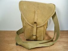 vtg US World War II Era WW2 Field Ammo Shell Canvas Messenger Shoulder Bag Pack