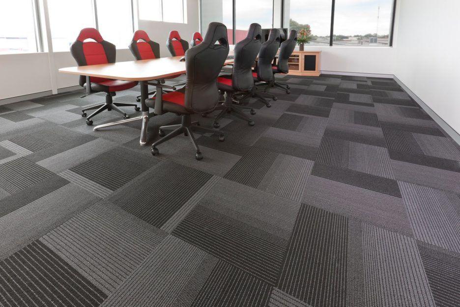 Endearing Design Floor Carpet Tiles Comes With Grey Color Vinyl