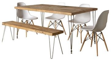 Urban Loft Reclaimed Wood Dining Table Contemporary Dining