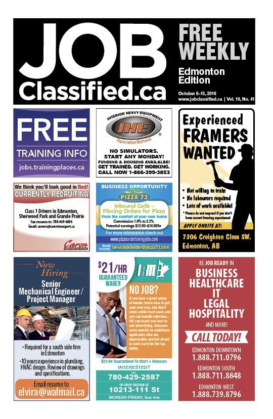 JobClassified Edmonton has the job leads you need to
