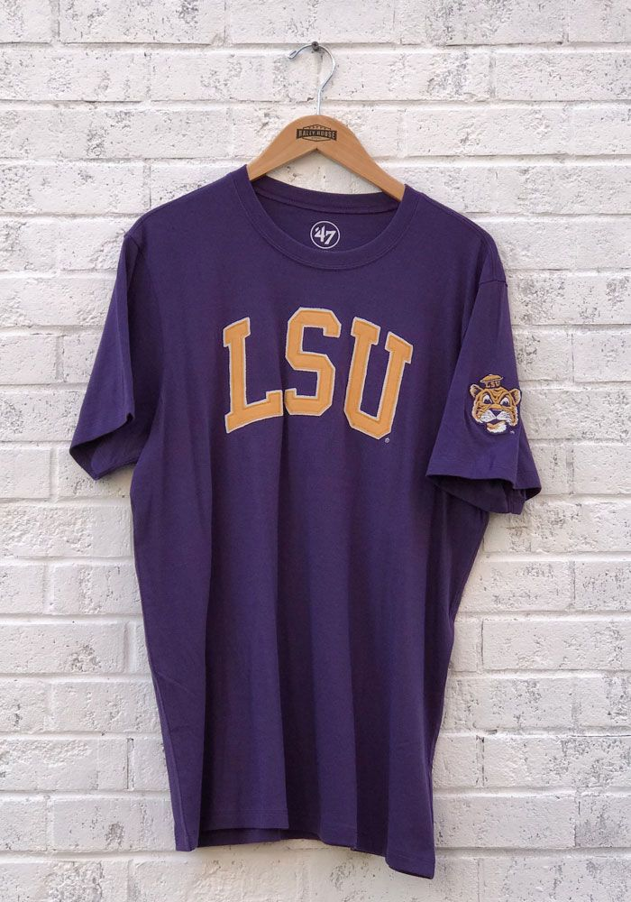 new products 631e0 05df6  47 LSU Tigers Purple Fieldhouse Short Sleeve Fashion T Shirt.