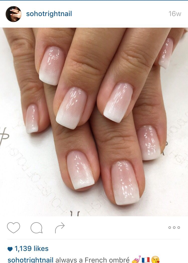 French ombré | Mani\'s and Pedi\'s | Pinterest | Manicure, Make up and ...