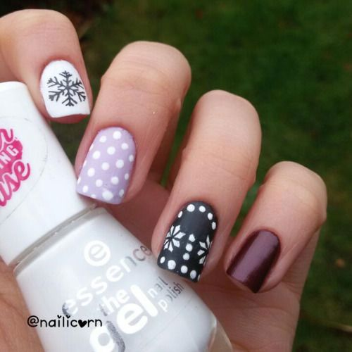 Easy Winter Nail Art Easy Winter Nail Art Pinterest Winter