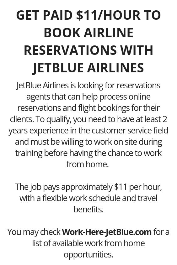 work from home airline reservations get paid 11 hour to book airline reservations with 6639
