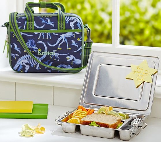 Mackenzie Blue Dino All In One Lunch Bag Pottery Barn