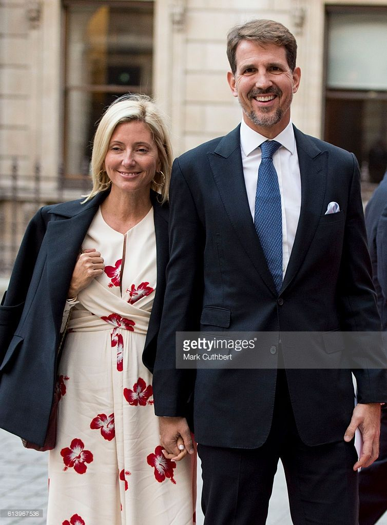 Crown Prince Pavlos of Greece and Crown Princess Marie Chantal of Greece arrive for an awards ceremony at The Royal Academy of Arts on October 11, 2016 in London, England.