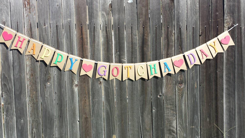 Gotcha Day Adoption Day Banner By Lettyspaperpretties On Etsy Gotcha Day Adoption Day Diy Banner