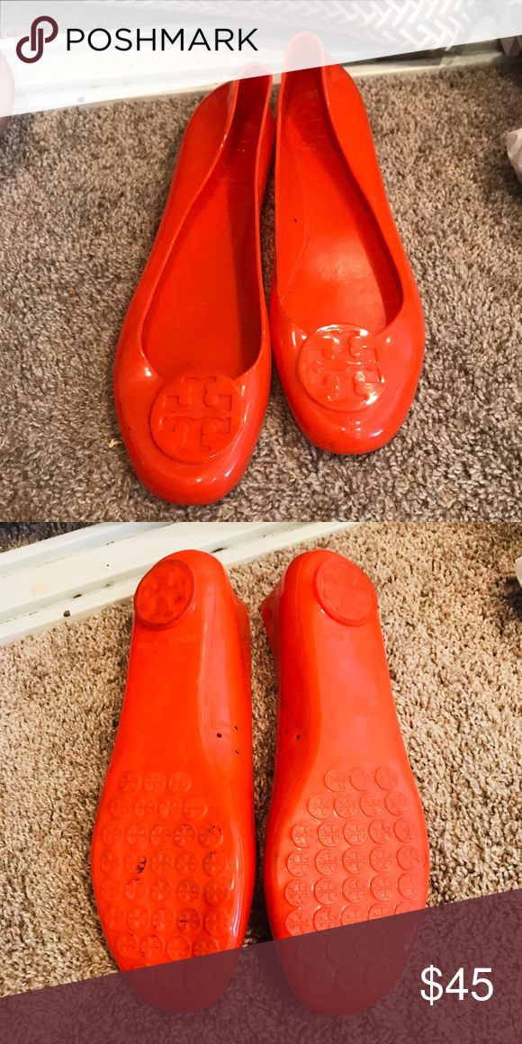 d53b2ffa613530 Gently used Tory Burch flats! Jellies!! Super fun for summer Authentic Tory  Burch Jelly Flats!! Tory Burch Shoes Flats   Loafers