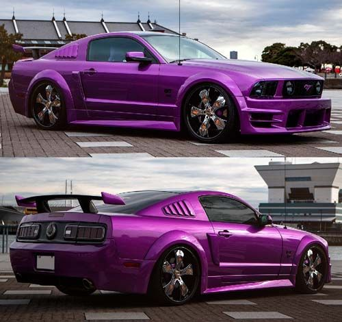 Ford Mustang Purple Modified X Bros Apparel Vintage