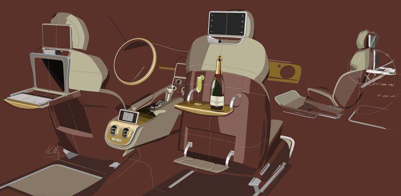 Bentley EXP 9F - interior concept sketch