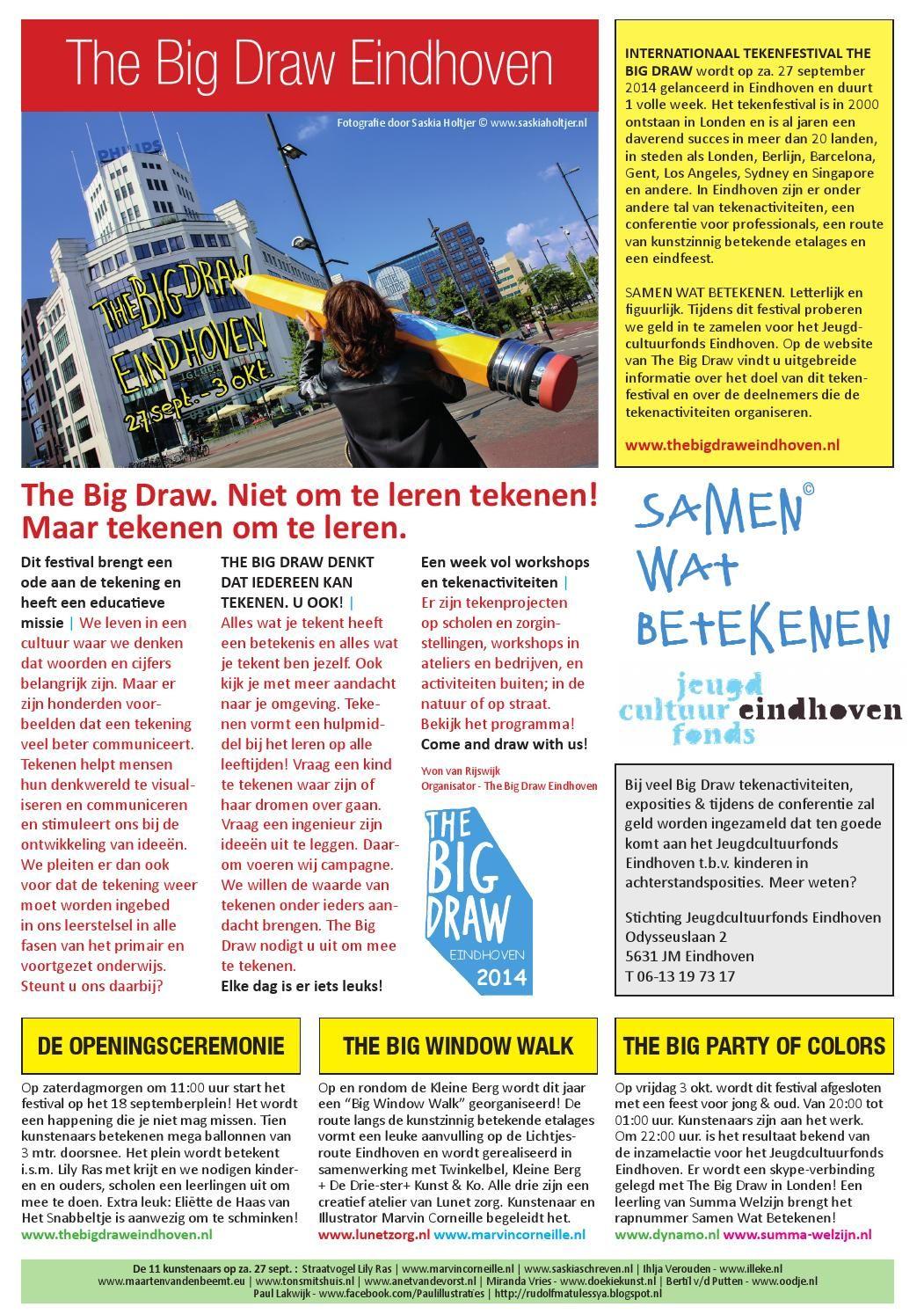 The Big Draw Eindhoven 2014 Programmafolder