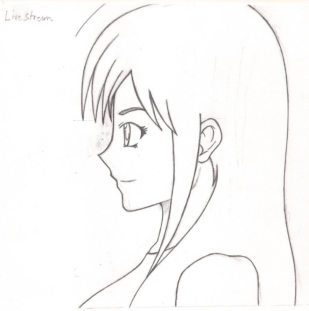 Manga female side view google search