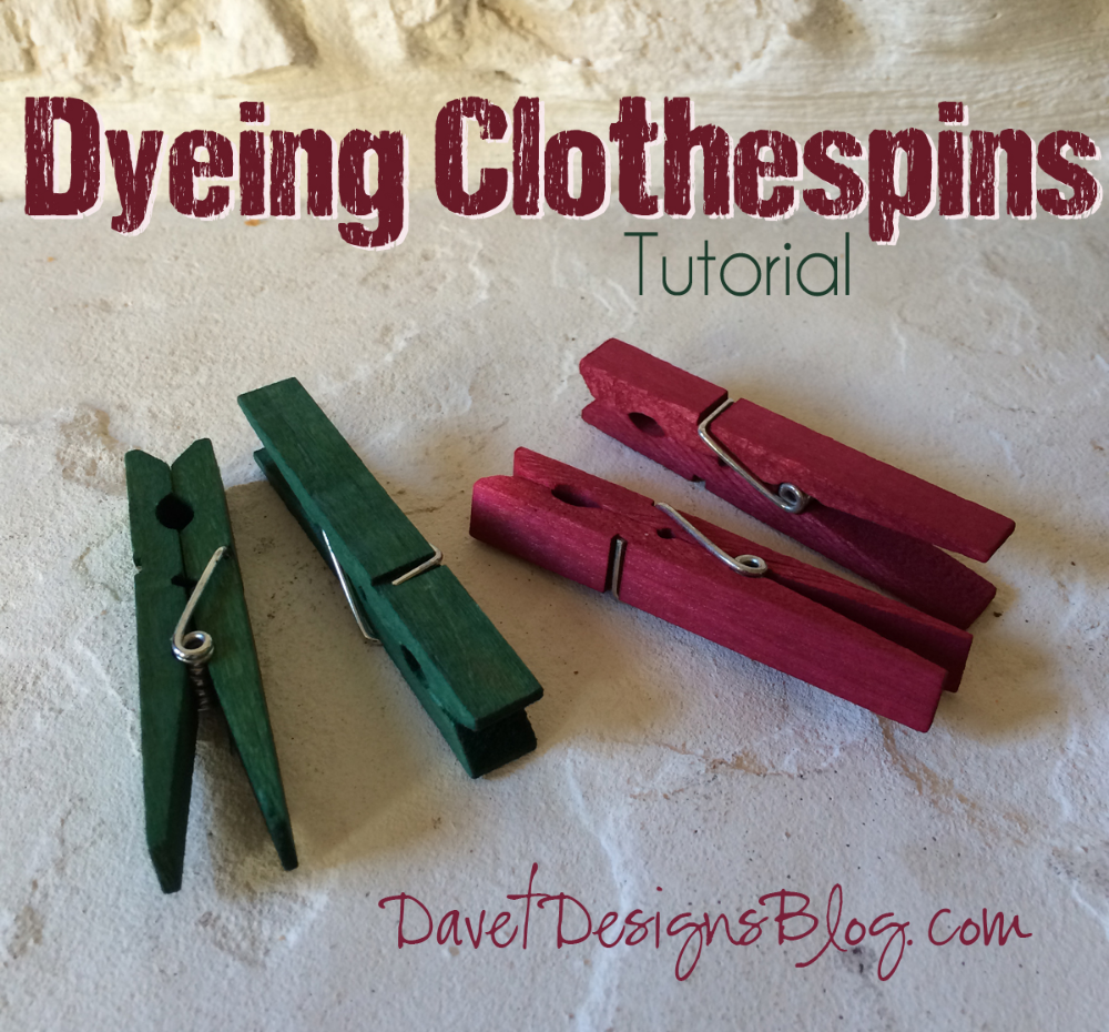 dye clothespins Z #dyeingtutorials