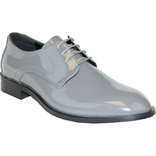 0ae153a29520 Tuxedo Shoes Grey Patent Leather Men made Material Tuxedo Shoes ...