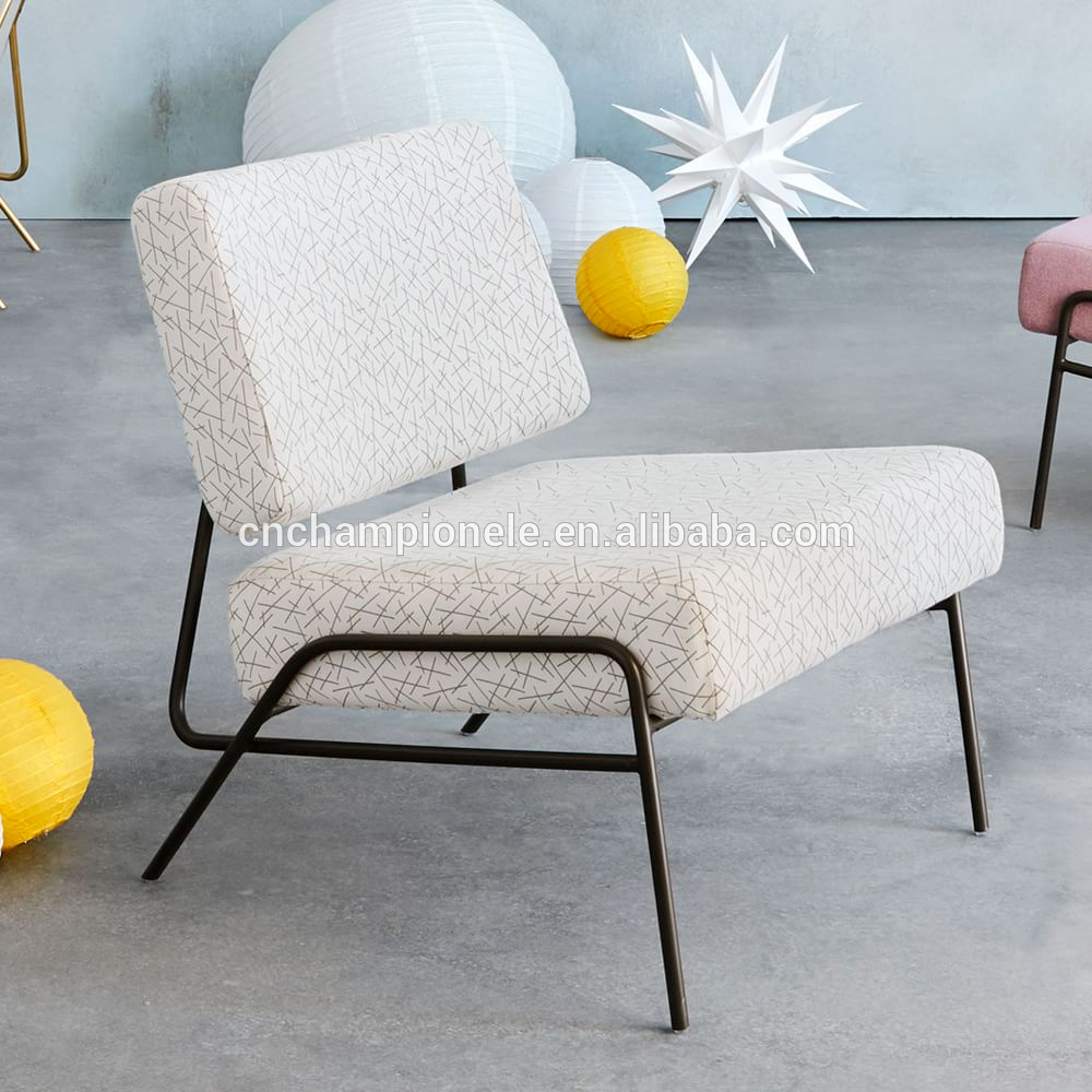 New Design Metal Tube Living Room Fabric Sofa Upholstered Chair View Best Price New Design Living Room Office Room Dining Room Champion Product Details From C In 2020 Furniture Upholstered Chairs