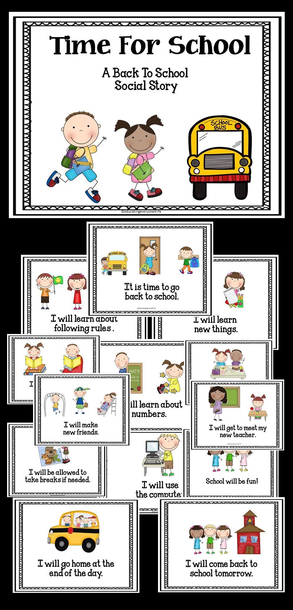 Free Back To School Social Story | SLP Social Story Freebies