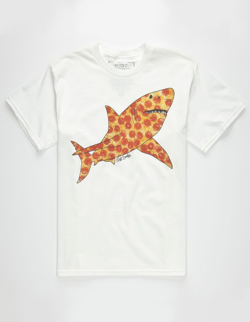 0a28ea3b0f89 Riot Society pizza shark tee. Pizza print shark giraffe graphic ...