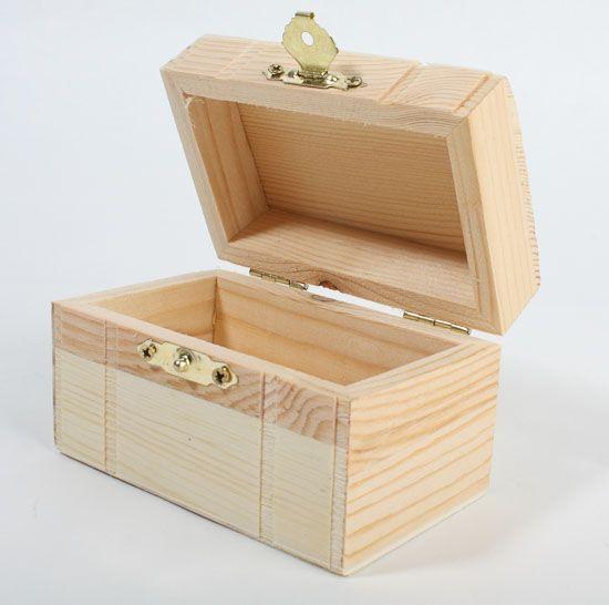 Unfinished Wood Treasure Chest Keepsake Box Keepsake Boxes Unfinished Wood Boxes Unfinished Wood