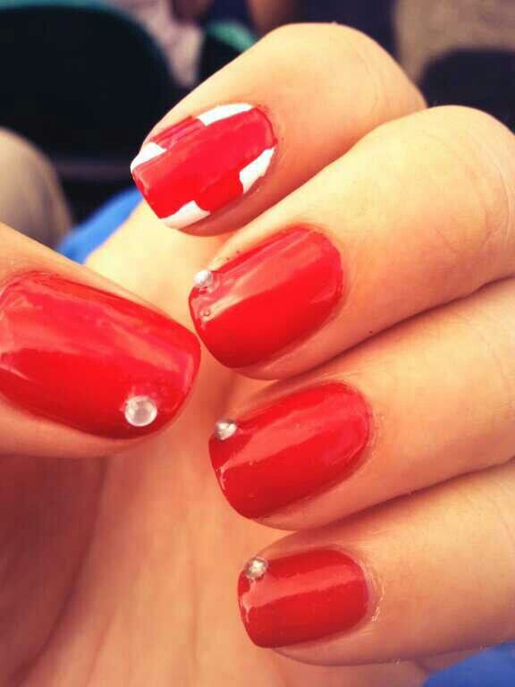 Supporting England Nails Nails Pinterest