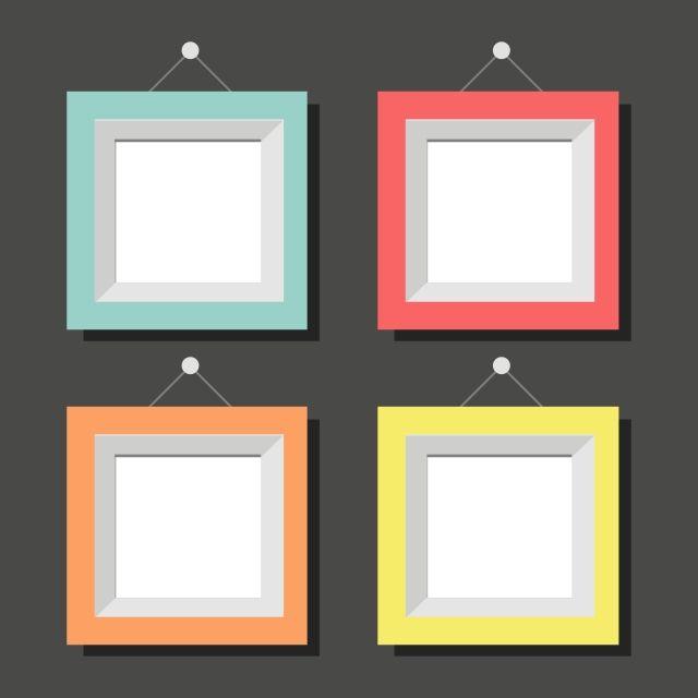 Set of colorful square photo frame design also best free frames images in rh pinterest