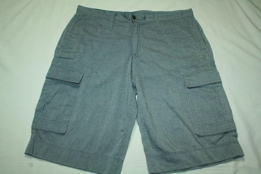 82f7185e13 Men's cargo shorts Foreign Exchange linen blend size L #ForeignExchange  #Cargo