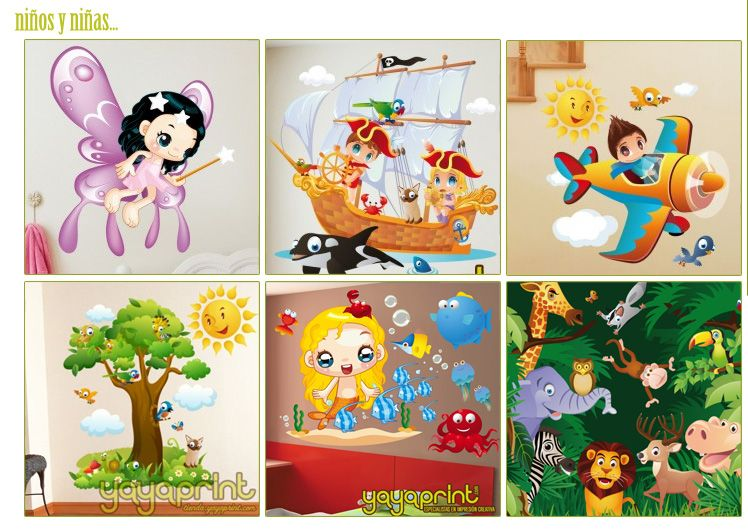 Vinilos infantiles decorativos madrid barcelona lima for Pegatinas habitacion nina