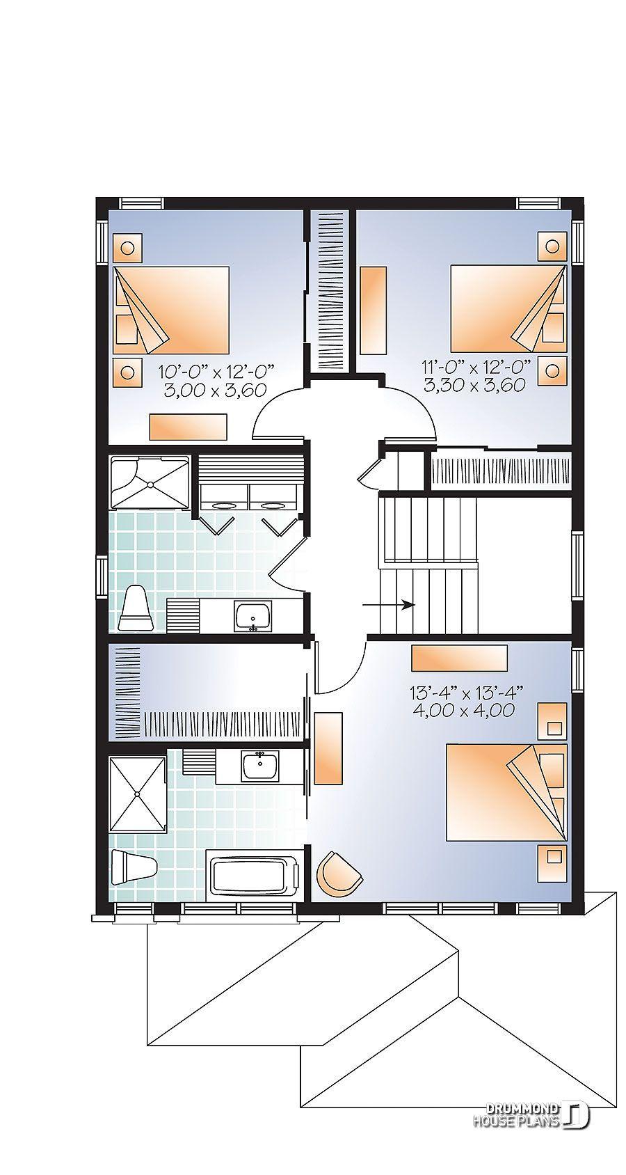 House Plan Stanton 2 No 3877 V1 House Plans Modern Style House Plans Modern Contemporary House Plans