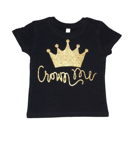 Crown Me Toddler and Girls Sparkle T Shirt