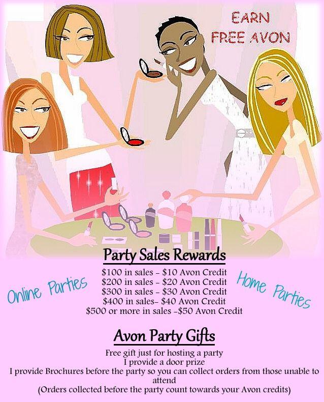 Hostess Rewards for Online and Home Parties http://youravon.com ...