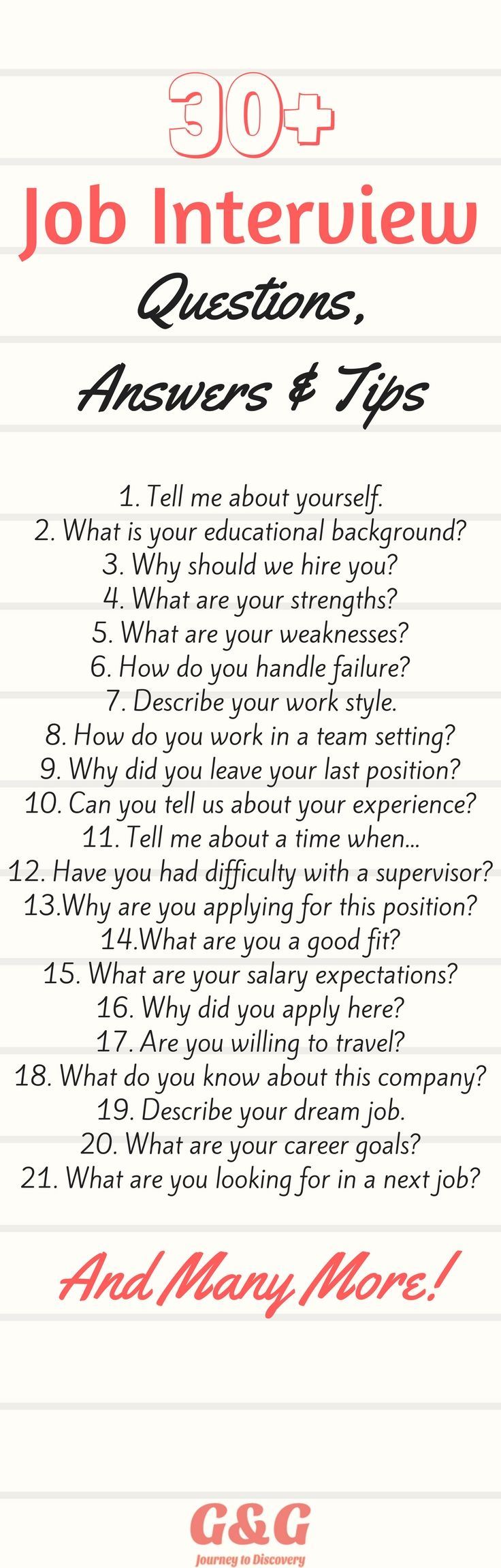 30  job interview questions  answers  and tips