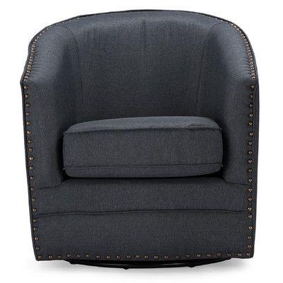 Wholesale Interiors Baxton Studio Classic Retro Upholstered Barrel Chair U0026  Reviews | Wayfair