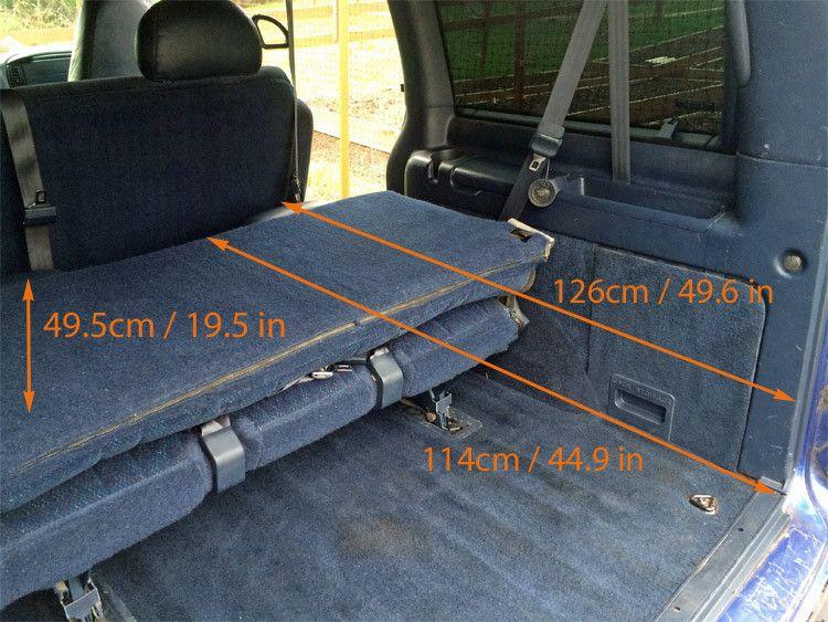 GMC Safari / Astro Van Interior Measurements For Minivan Camper Conversion