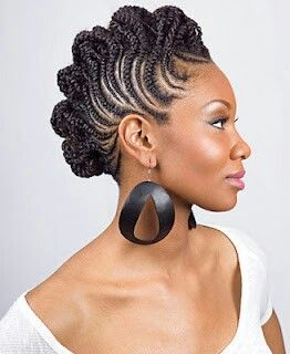 Fancy Cornrows Natural Hair Styles Braided Mohawk Hairstyles
