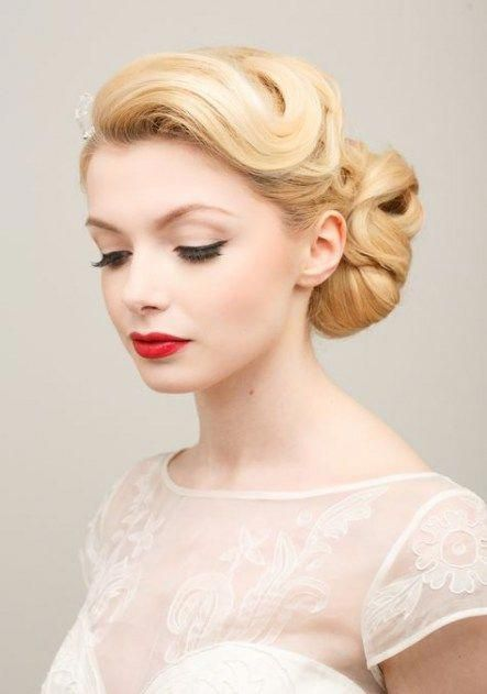 Vintage Wedding Hairstyles Updo Red Lips 68 Ideas For 2019
