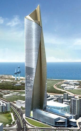 Al Hamra Tower - Kuwait City, Kuwait  412 m